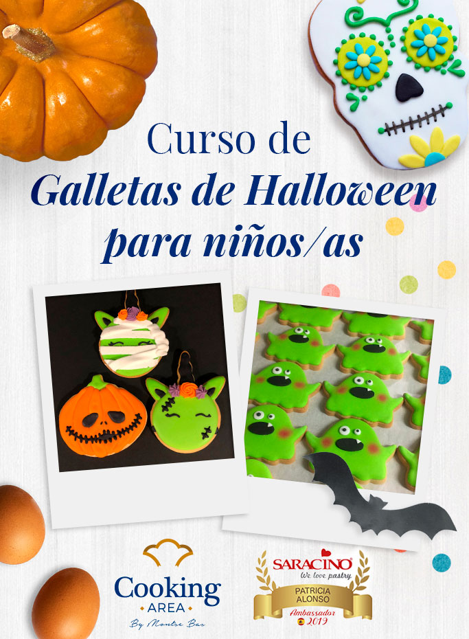 Curso de Galletas de Halloween para Niños/as en Barcelona | Cooking Area